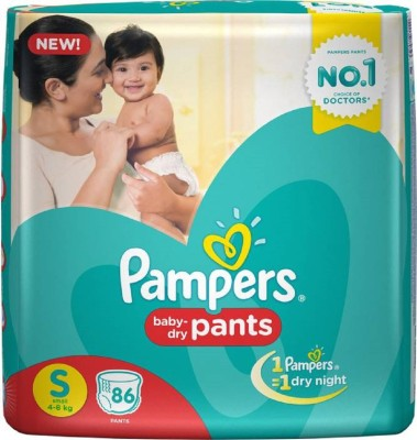 3489824bdcd 16% OFF on Pampers Extra absorbant Pant Diapers - S on Flipkart ...