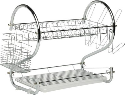 Gallaxy STAINLESS STEEL DISH & CUP RACK Steel Kitchen Rack(Silver)