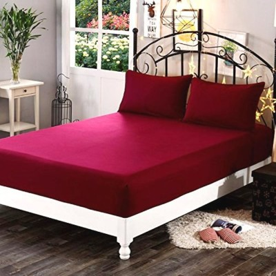 Sleep Matic Fitted King Size Waterproof Mattress Protector(Maroon)