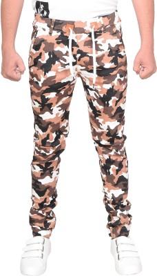 Slim Fit Men Multicolor Trousers