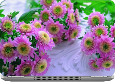 imbue pink flowers 1 Digital quality vinyl Laptop Decal 15.6