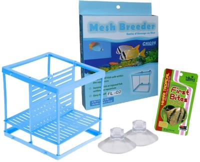 ROYAL PET CHICOS Mesh Breeder (FS-02) | Easy Install | Keeps Small Fish Safe Within The Aquarium | Fish Hutch