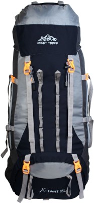 Mount Track X-Trail Mountain Trekking & Hiking/ Camping Backpack with Rain Cover Rucksack  - 85(Black)