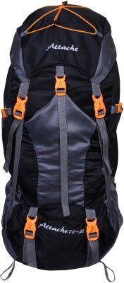 Attache 1025R Hiking Backpack (Back) With Rain Cover Rucksack  - 75 L(Black)
