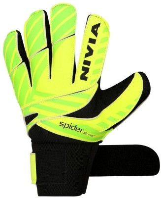 Nivia Ditmar Spider Goalkeeping Gloves Green, White Nivia Football Gloves