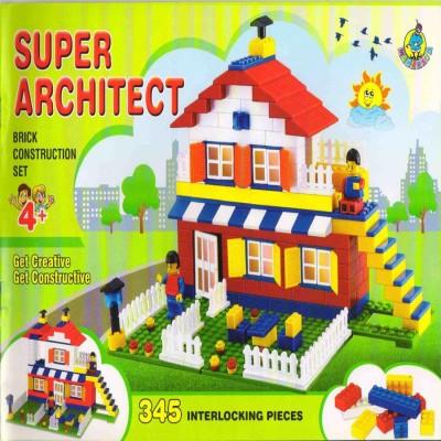 Ratnas ARCHIITECT SET JUMBO FOR KIDS LET THEM CREATE BEST POSSIBLE MODELS SUPER   345 Pcs  Multicolor Ratnas Blocks   Building Sets