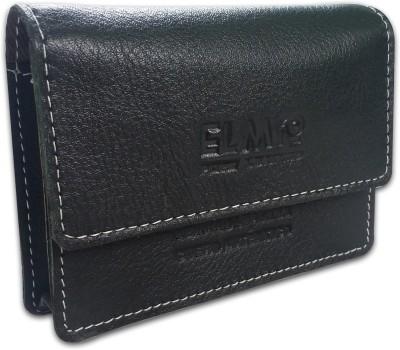 EL Mio New Handmade Unique Pure Genuine Black Leather Fashionable and Stylish Designer 100 Card Holder(Set of 1, Black)