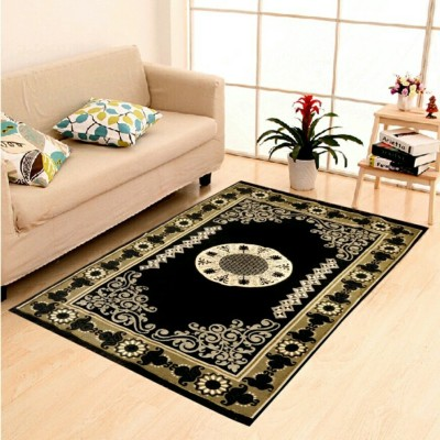 POOJA Multicolor Chenille Carpet(150 cm  X 210 cm)