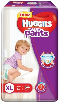 Huggies Wonder Pants Baby Diapers, XL 54 Pieces