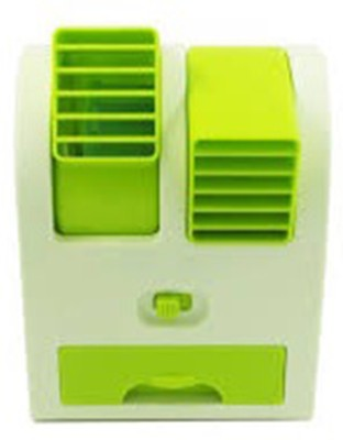 Akshat Premium Usb Powered Air Mini Small Conditioner Fan Cooling Portable Desktop Fan Table Fan(GREEN)  available at flipkart for Rs.299