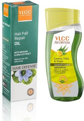 VLCC Hair Fall Repair Oil & Ayurveda Dandruff Control Shampoo