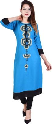 Neel Fab Women Embroidered Straight Kurta(Multicolor)