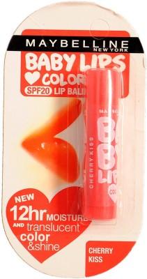 Maybelline BABY LIPS LIPBALM 12HR & TRANSLUCENT COLOR & SHINE CHERRY KISS SPF20(4 g)