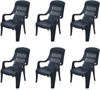 Nilkamal Weekender Plastic Outdoor Chair(Black)