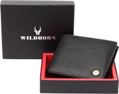 WildHorn Men Black Genuine Leather Wallet