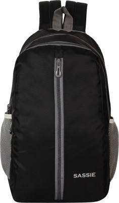 SASSIE Black School Bag II Genuine Backpack II Multiuse bag II Smart Tuition Bag (21 Ltr) (SSN-1060) (Secondary 3rd Std Plus) Waterproof School Bag(Black, 21 L)