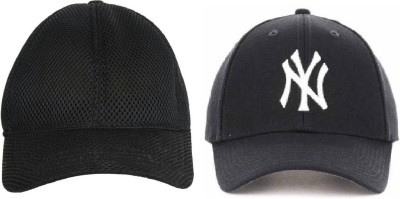 Paidu Solid, Embroidered POROM Embroidered Baseball Cap NY-DIS BOOS Cap(Pack of 2)