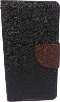 G-case Flip Cover for For Xolo Q1200(Brown, Grip Case, Artificial Leather)