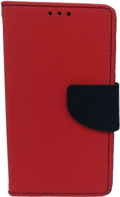 GMK MARTIN Flip Cover for FOR Meizu M1 Note(Red, Grip Case, Artificial Leather)
