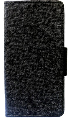 G-case Flip Cover for For Intex Aqua i5 Octa(Black, Grip Case, Artificial Leather)