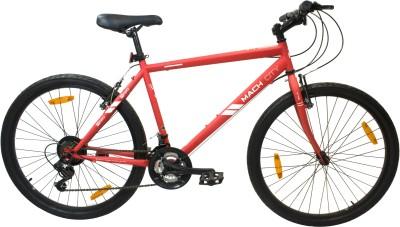 Mach City iBike Medium 26 T 21 Gear Hybrid Cycle/City Bike(Red)