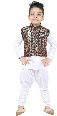 SKDC Boys Festive & Party Kurta, Waistcoat and Pyjama Set(Multicolor Pack of 3)  available at flipkart for Rs.249