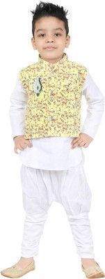 SKDC Boys Festive & Party Kurta, Waistcoat and Pyjama Set(Multicolor Pack of 1)  available at flipkart for Rs.234