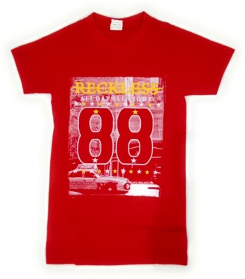 Aayushicollections Boys Graphic Print Cotton T Shirt(Red 415bffe3b