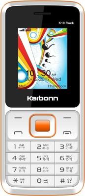 Karbonn K19 Rock(White & Orange)