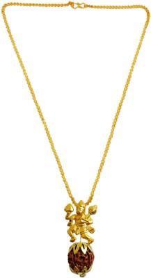 Rich & Famous Hanuman Bajrang Bali Rudraksha Pendant For Men/Women Gold-plated Wood, Metal Pendant