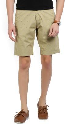U.S. Polo Assn Printed Men's Beige Chino Shorts