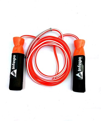 Infaspo Gym Training And Home Exercises Ball Bearing Skipping Rope(Orange, Black, Pack of 1)  available at flipkart for Rs.144
