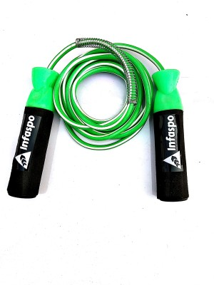 Infaspo Gym Training And Home Exercises Ball Bearing Skipping Rope(Green, Black, Pack of 1)  available at flipkart for Rs.145