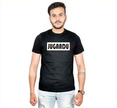 AMBAZ Printed Men's Round Neck Black T-Shirt