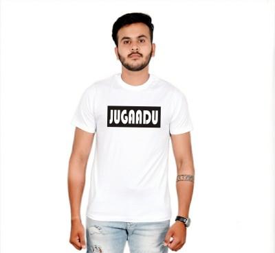 AMBAZ Printed Men's Round Neck White T-Shirt