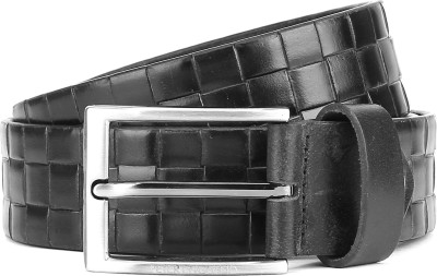 Peter England Men Black Genuine Leather Belt