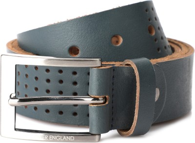 Peter England Men Blue Genuine Leather Belt