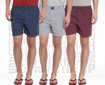 Metronaut Checkered Men's Boxer(Pack of 3)
