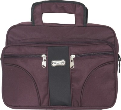 Exel Office Bag Medium Briefcase - For Men & Women(Purple, Black)