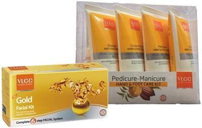 VLCC Manicure Pedicure kit and Gold Facial Kit(Set of 1)