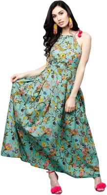 Aks Women's Maxi Green Dress