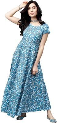 Silver Organisation Women Maxi Blue Dress