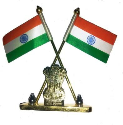 Capeshoppers india Square Car Dashboard Flag Flag(Metal, Plastic)