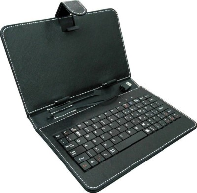 RHONNIUM ™ Universal Keyboard Case for iPad Mini, Galaxy Tab & other small tablets Wired USB Tablet Keyboard(Café Noir)