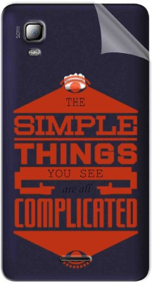 Snooky Soft Transparent Tpu Film For Micromax Canvas Doodle 3 A102 Simple Things Micromax Canvas Doodle 3 A102 Mobile Skin(Transparent)