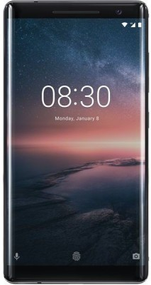 Nokia 8 Sirocco 128GB 6GB RAM Black Mobile