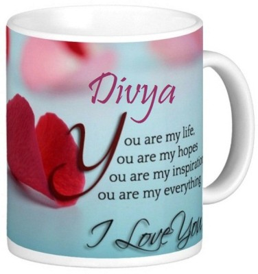 Exoctic Silver Divya Love Romantic Valentine Quotes 006 Ceramic Mug(330 ml) at flipkart