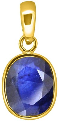 Tejvij And Sons 5.25 Ratti natural neelam pendent panchdhatu with gold plated for men & women… Yellow Gold Sapphire Metal Pendant