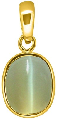 Tejvij and Sons 8.25 Ratti Cats Eye Pendent panchdhatu with Gold Plated For Men & Women… Yellow Gold Cat