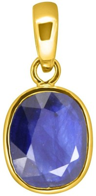 Tejvij And Sons 6.25 Ratti Blue Sapphire pendent for Capricorn panchdhatu with gold plated for men & women… Gold-plated Sapphire Metal Pendant